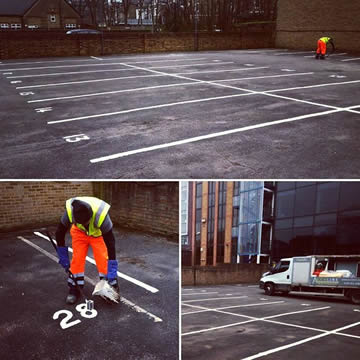 Car Park Marking & Numbering in London