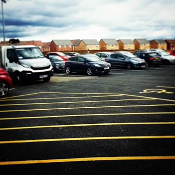 Car Park Painting in Peterborough all bays and no parking