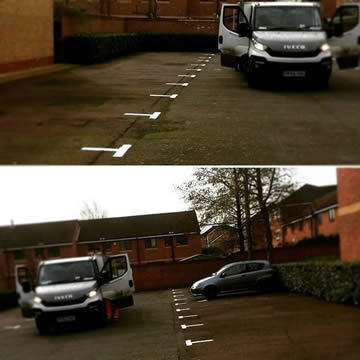 Car Park Marking to 238 Bays In London