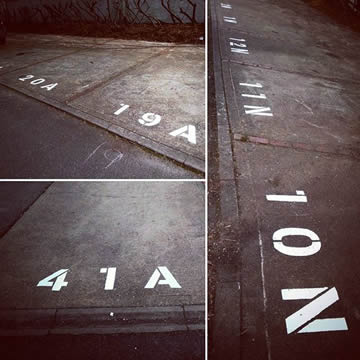Car Parking Bay Numbering In Enfield London