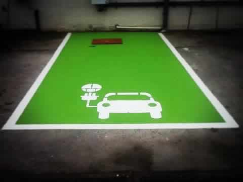 Line Painting Electric Car Charging Bays